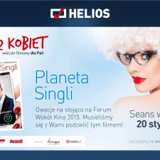 """""""Planeta Singli"""" – już 20 stycznia 2016 w Kinie Kobiet!"""